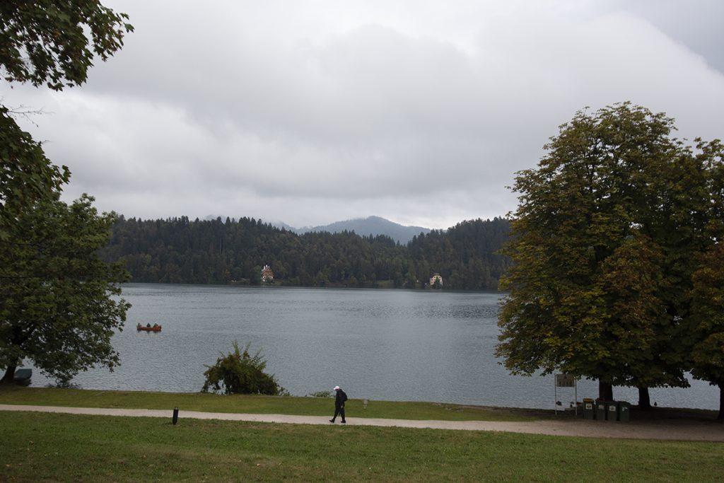 비오는 블레드 호수