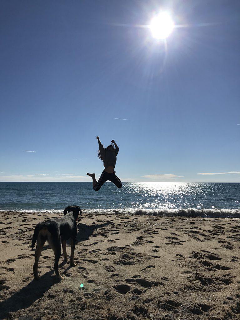 사랑이와 첫 모래사장 놀이