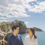 두브로브니크 성벽이 보는 어느 절벽, 크로아티아